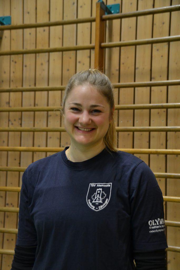 Übungsleiterin Sarah Fehrenbach
